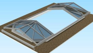 3D sketch of the open convertible glass sliding roof