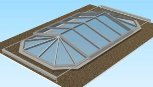 3D sketch of the closed convertible glass sliding roof