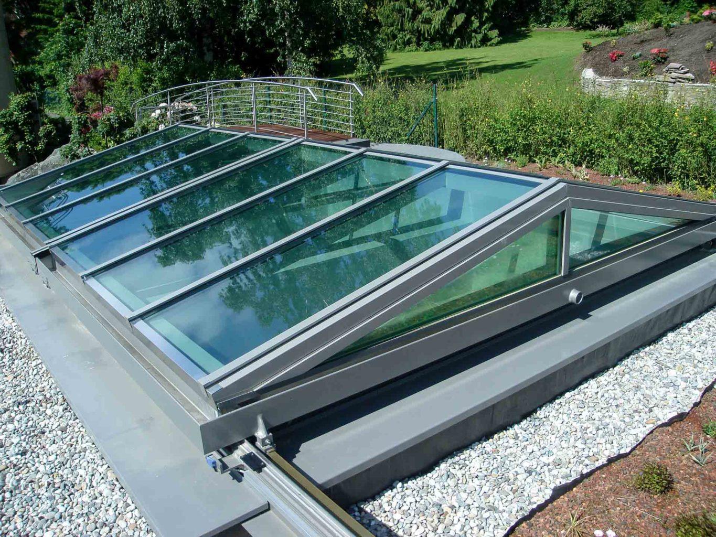 Cabrio Schiebedach in Königstein (Objekt 1058). Das bewegliche Glasdach schafft freie Aussicht