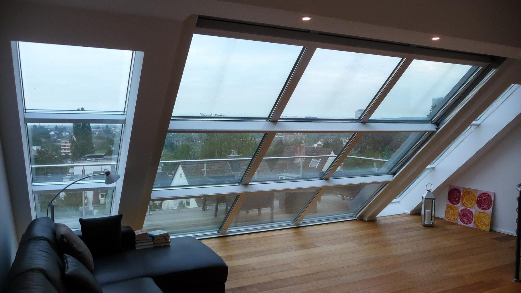OpenAir Schiebedach in Bonn (Objekt 1074). Dachschiebefenster ermöglichen auch bei schlechtem Wetter einen grandiosen Ausblick. Herbst und Winter können im Warmen genossen werden und sobald die Sonne scheint, eröffnet sich eine Dachterrasse.