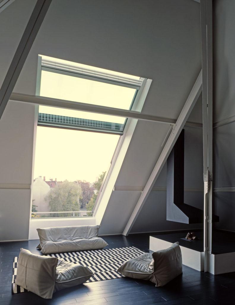 OpenAir Dachfenster in Berlin (Objekt 1118). Altes Pumpwerk Berlin - moderner Dachausbau mit OpenAir-Dachschiebefenster