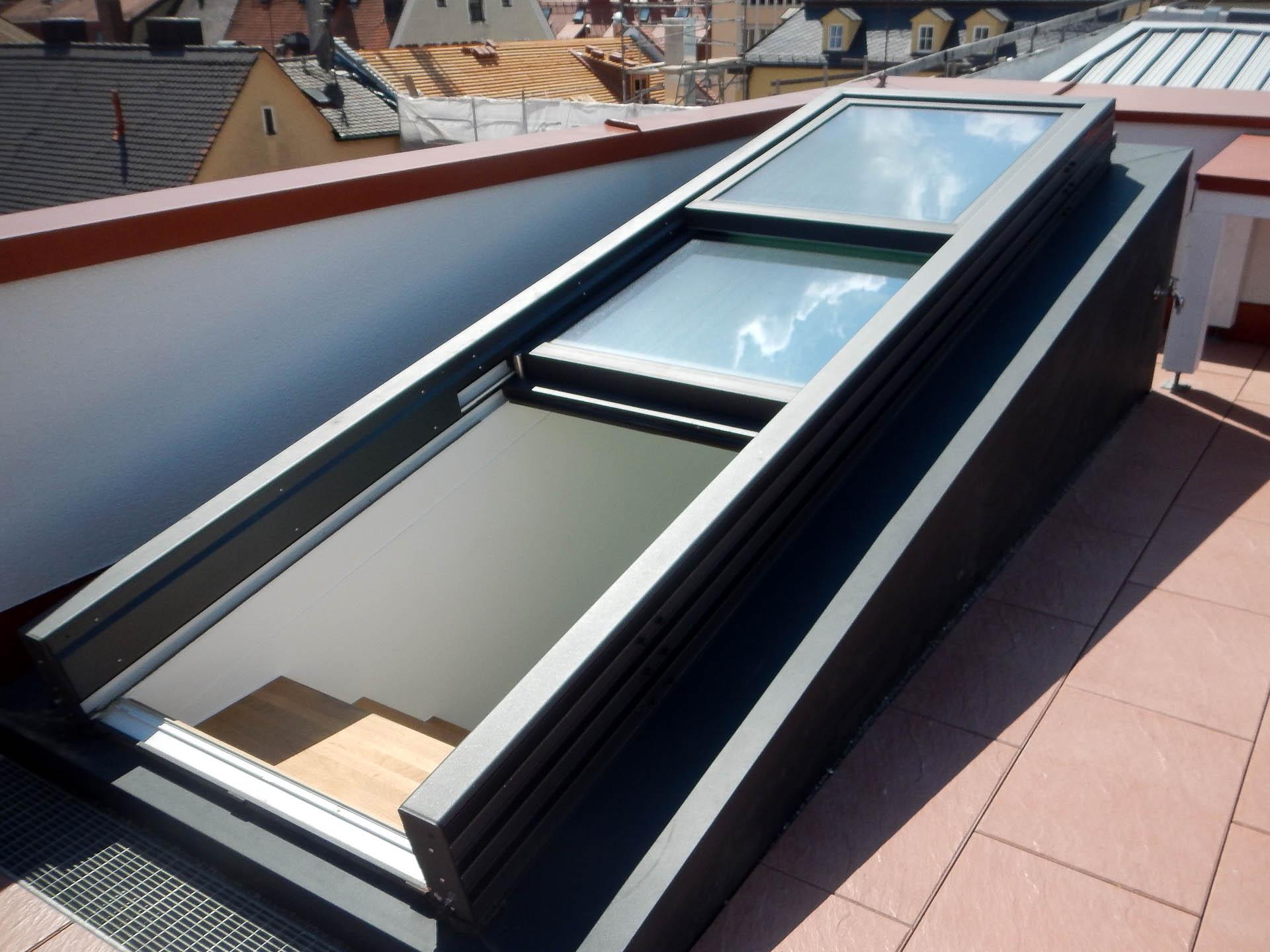OpenAir Dachschiebefenster in Regensburg (Objekt 1162). 3-teiliges OpenAir Dachschiebefenster