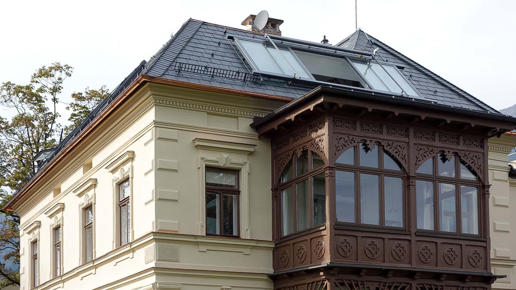 Panorama Dachschiebefenster in Innsbruck ((Objekt 1128). 4-teiliges Panorama Dachschiebefenster