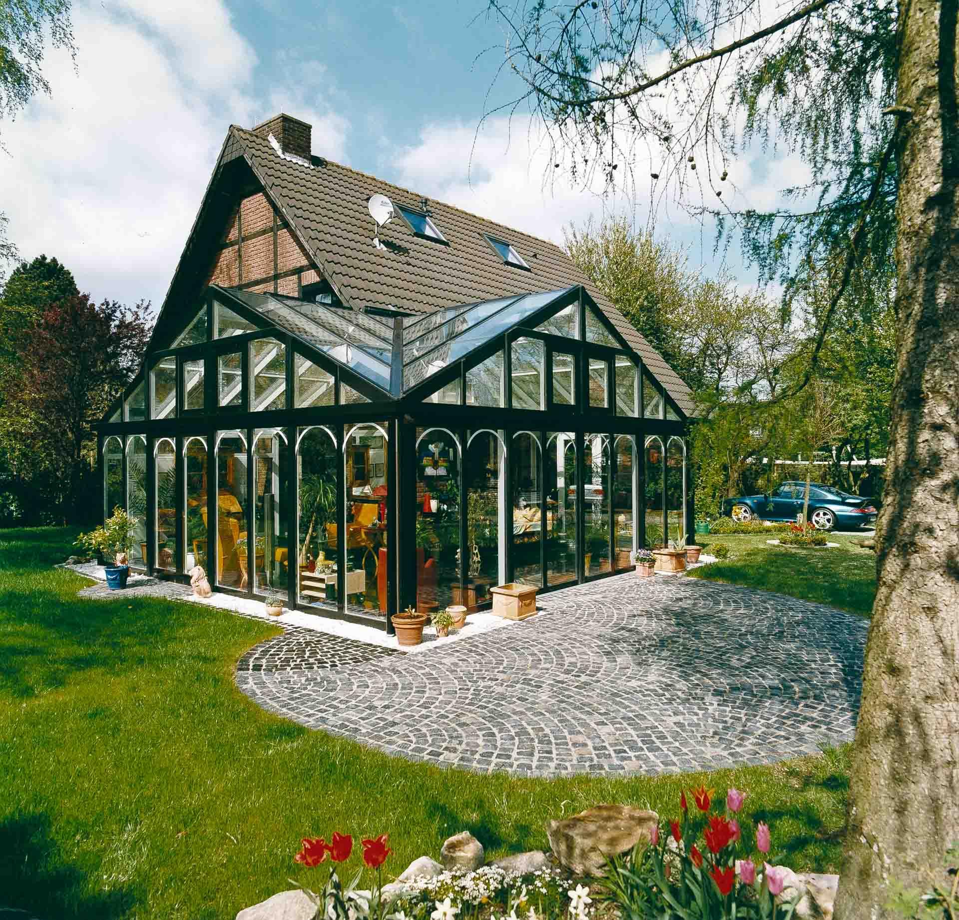 Wintergarten in Rosendahl (Objekt 614). Moderne Baustoffe in historisch anmutender Gestaltung