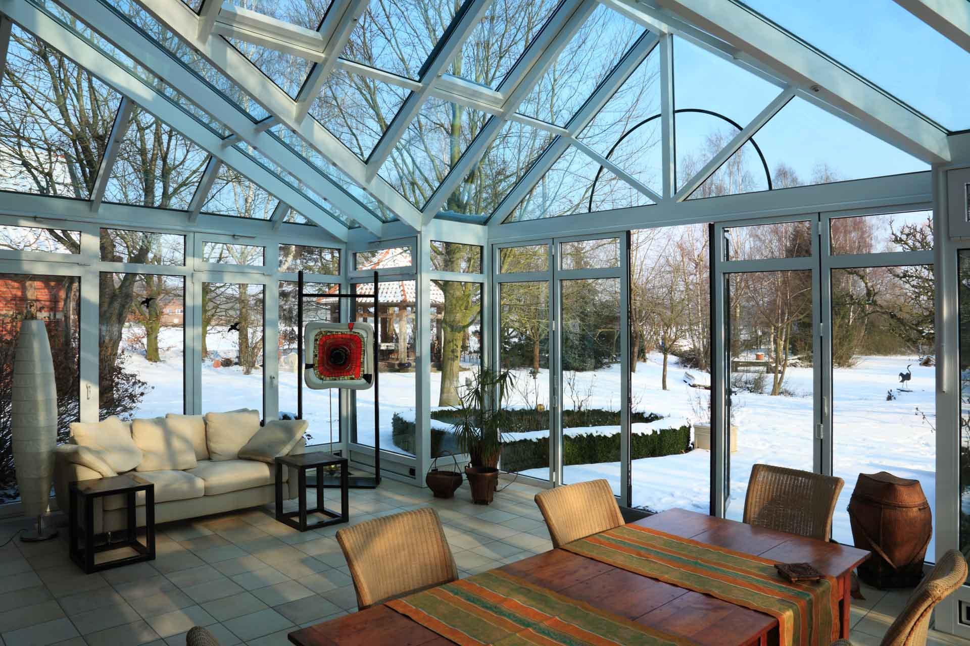 DecoArt Wintergarten in Nortrup (Objekt 827). Wintergarten 827_5289 im Winter