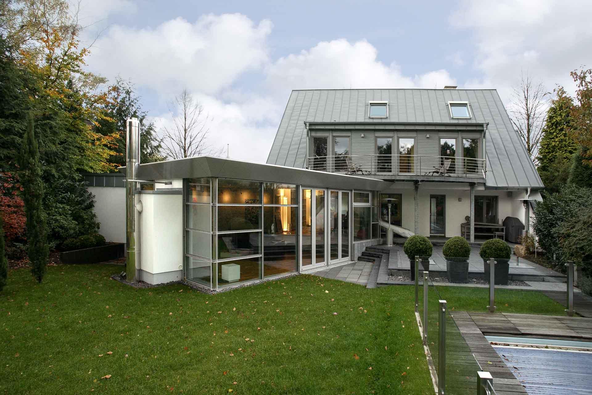 conservatory in Essen (object 1027). FineArt winter garden as living space in the garden.