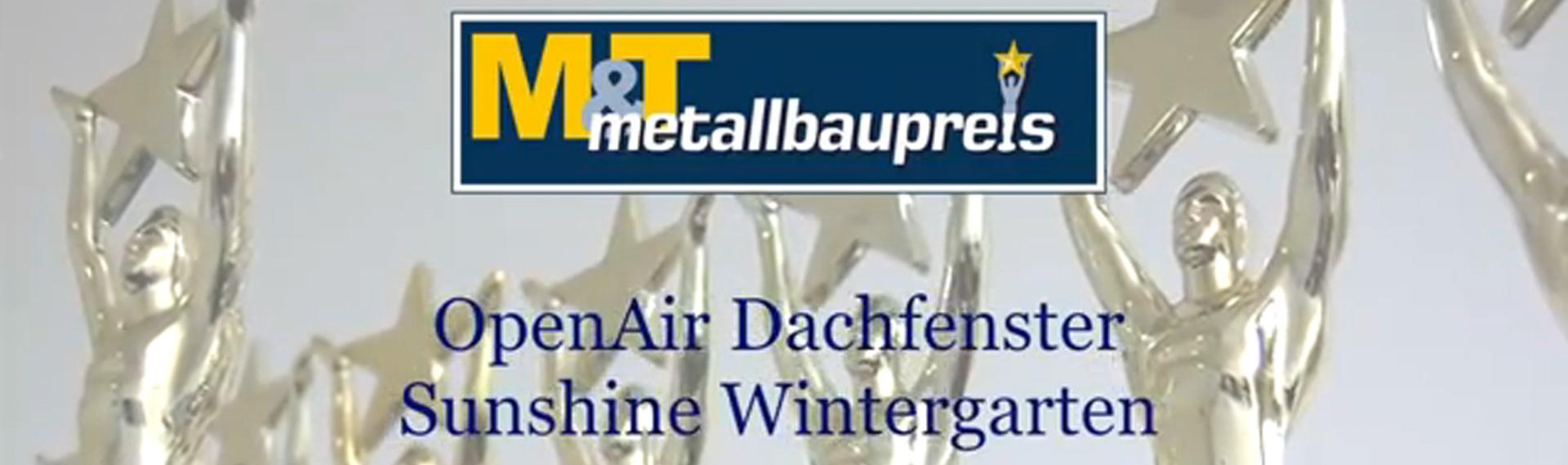 OpenAir Schiebedach in Bonn (Objekt 1074). Auszeichnung mit dem M&T metallbaupreis für ein Sunshine-Dachschiebefenster  im Jahre 2011
