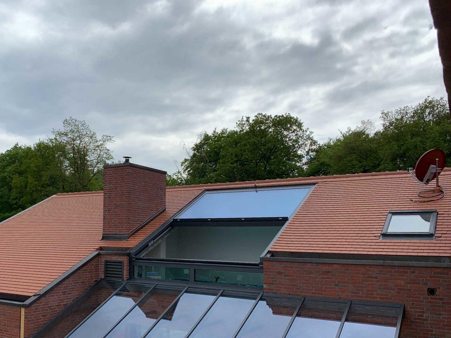 OpenAir Dachschiebefenster in Hünxe (Objekt 1183). 2-teiliges OpenAir Dachschiebefenster mit 400 cm Breite und 500 cm Höhe