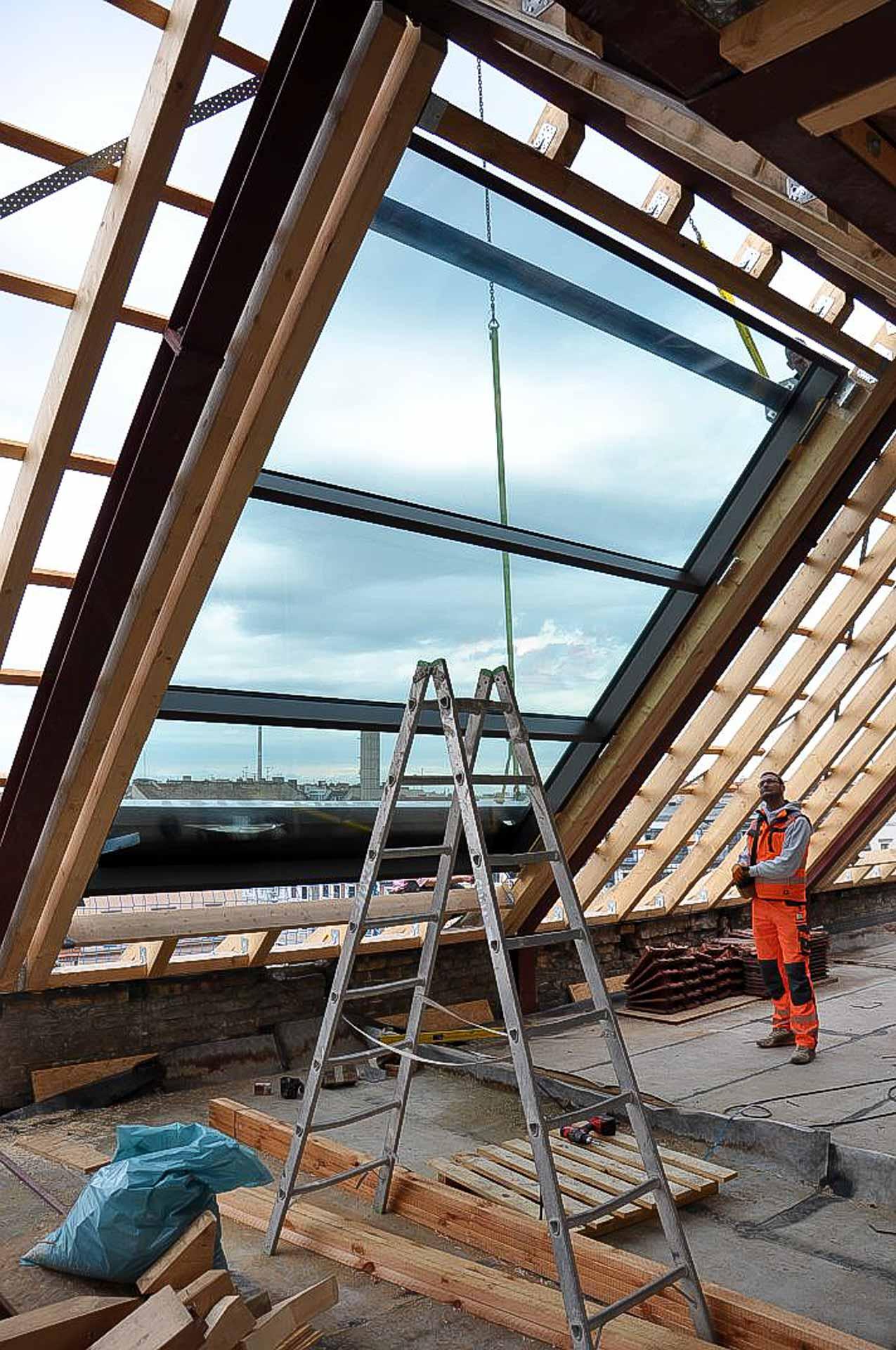 OpenAir Dachschiebefenster und Lichtdach in Berlin (Objekt 1126).
