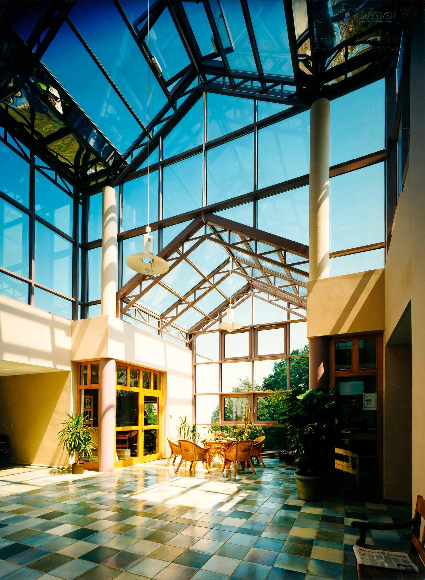Wintergarten am Dr. Bruker Gesundheitszentrum in Lahnstein (Objekt 433)