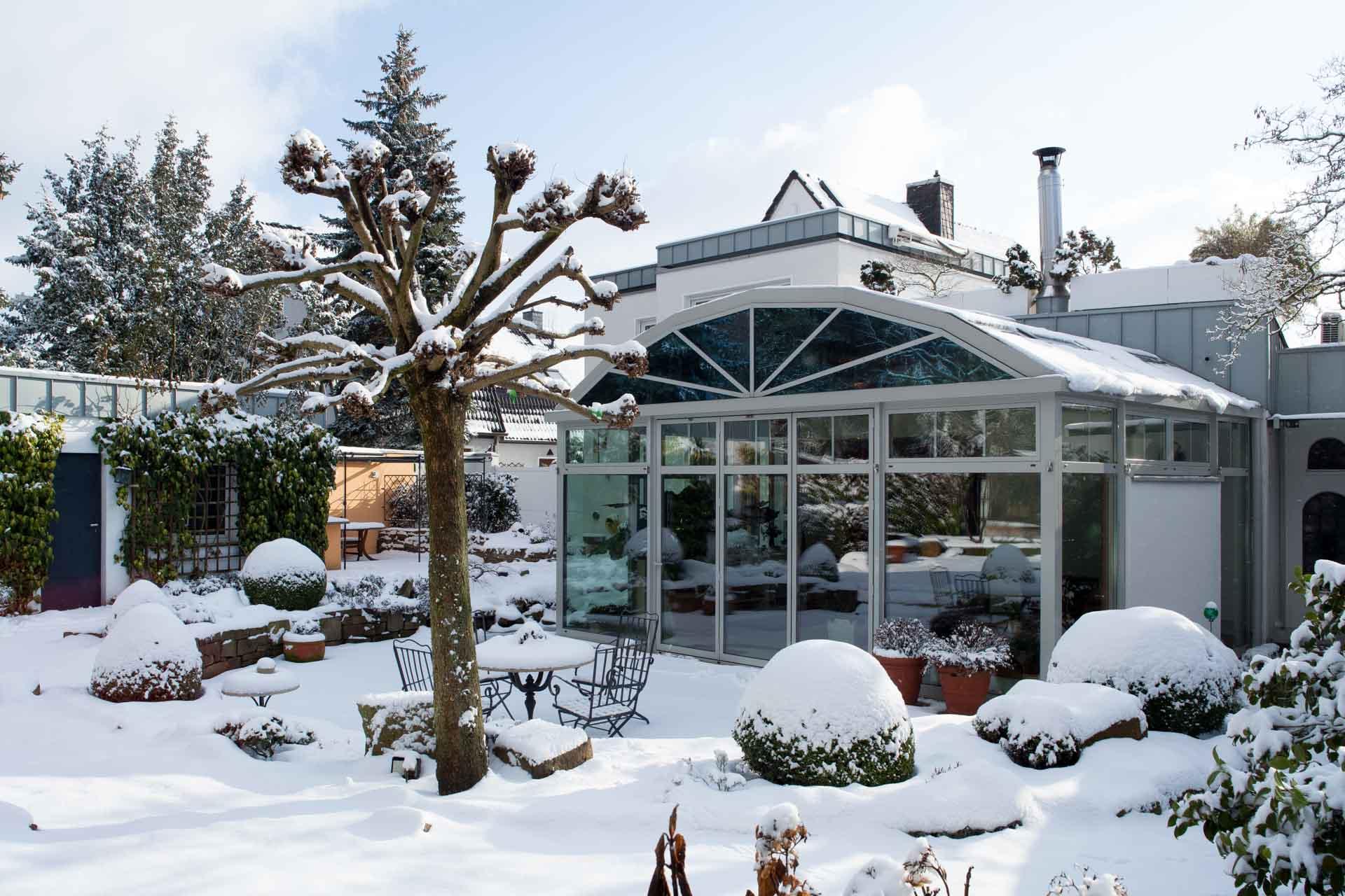 Ein Fest für alle Sinne: Wintergarten im Winter